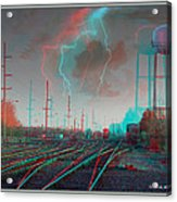 Tracking The Storm - Red-cyan Filtered 3d Glasses Required Acrylic Print