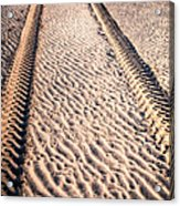 Tracks In The Sand Acrylic Print
