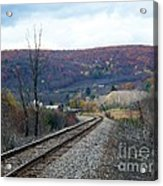 Tracks In The Valley Acrylic Print