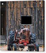Tractor And The Barn Acrylic Print