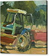 Tractor In Italy Acrylic Print