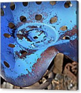 Tractor Seat Close Up Acrylic Print