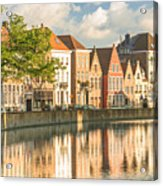Traditional Brugge Buildings Acrylic Print