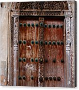 Traditional Carved Door Acrylic Print