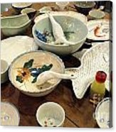 Traditional Chinese Dinner Setting Acrylic Print