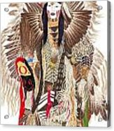 Traditional Pow-wow Dancer 1 Acrylic Print