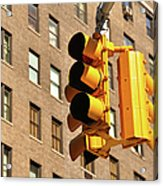 Traffic Signal Acrylic Print by Keith McInnes Photography