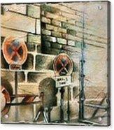 Traffic Signs In Dusseldorf 1982 Acrylic Print by Glenn Bautista