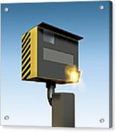 Traffic Speed Camera Acrylic Print by Victor Habbick Visions