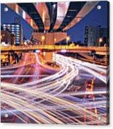 Traffic Trails Acrylic Print by Y2-hiro