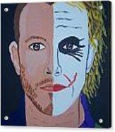 Tragic Jokerman Acrylic Print