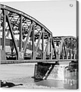 Train Across Bridge Acrylic Print