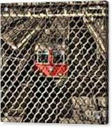 Train Behind A Fence Acrylic Print
