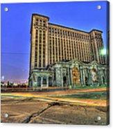Michigan Central Train Depot Station Detroit Mi Acrylic Print