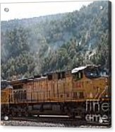 Train In Spanish Fork Canyon Acrylic Print