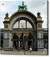 Train Station At Lucerne Acrylic Print