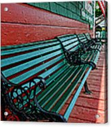 Train Station Waiting Area Acrylic Print