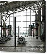 Train Station Waiting Area Acrylic Print