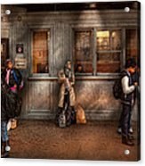 Train - Station - Waiting For The Next Train Acrylic Print