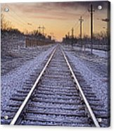 Train Tracks And Color 2 Acrylic Print