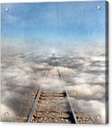 Train Tracks Into The Clouds Acrylic Print
