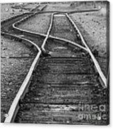 Train Tracks Switch Acrylic Print