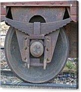 Train Wheel Acrylic Print