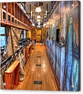 Trains - Post Office Mail Sorting Rail Car Inside I Acrylic Print