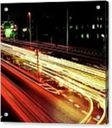 Trajectory Of Light(national Route No.24) Acrylic Print