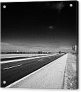Trans Canada Highway 1 And Yellowhead Route In Manitoba Canada Acrylic Print