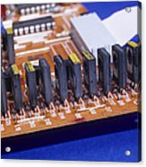 Transistors And Diodes Acrylic Print by Andrew Lambert Photography