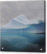 Translucent Blue Iceberg Reflection Acrylic Print