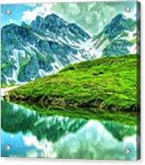 Travelers Rest Swiss Alps Acrylic Print
