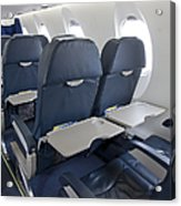 Tray Table On An Airplane Acrylic Print