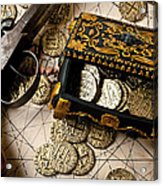 Treasure Box With Old Pistol Acrylic Print