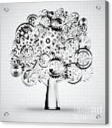 Tree Of Industrial Acrylic Print by Setsiri Silapasuwanchai