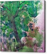 Tree.cohen And Me Acrylic Print by Peter Edward Green