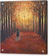 Trees Echo The Footfalls Acrylic Print