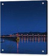 Trempealeau Damn Under A Full Moon Acrylic Print