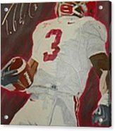 Trent Richardson Alabama Crimson Tide Acrylic Print