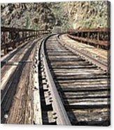 Trestle Tracks Acrylic Print