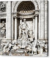 Trevi Fountain Detail Acrylic Print