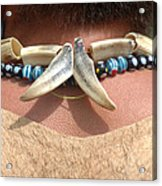 Tribal Man's Accessory Acrylic Print
