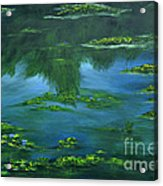 Tribute To Monet 2 Acrylic Print