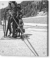 Tribute To The Mining Family - Wallace Idaho Acrylic Print