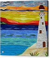 Trinity Lighthouse On The Bay Of Paradise Acrylic Print