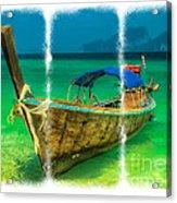 Triptych Longboat Acrylic Print