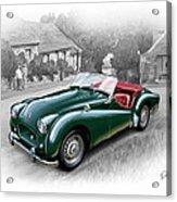 Triumph Tr-2 Sports Car Acrylic Print by David Kyte