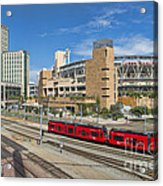 Trolley To Petco Park Acrylic Print