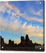 Trona Pinnacles At Sunset Acrylic Print